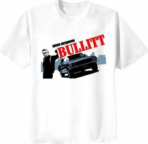 steve mcqueen bullitt movie vintage retro classic t shirt design tshirt printing ebay. Black Bedroom Furniture Sets. Home Design Ideas