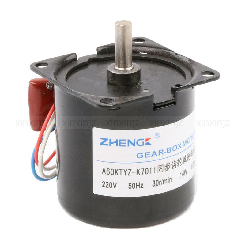 High torque ac 220v 30rpm gear box electric synchronous for Gears for electric motors