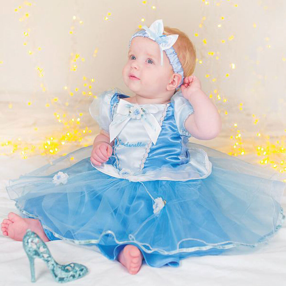 Disney Store Deluxe Cinderella Costume For Baby Toddler 2t: Girls Baby Toddler Disney Princess Cinderella Panto Fancy