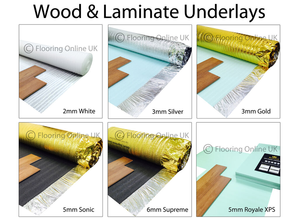 Great Wood / Laminate Flooring Underlay   Sonic Gold   Acoustic   Silver   XPS,  Vapour