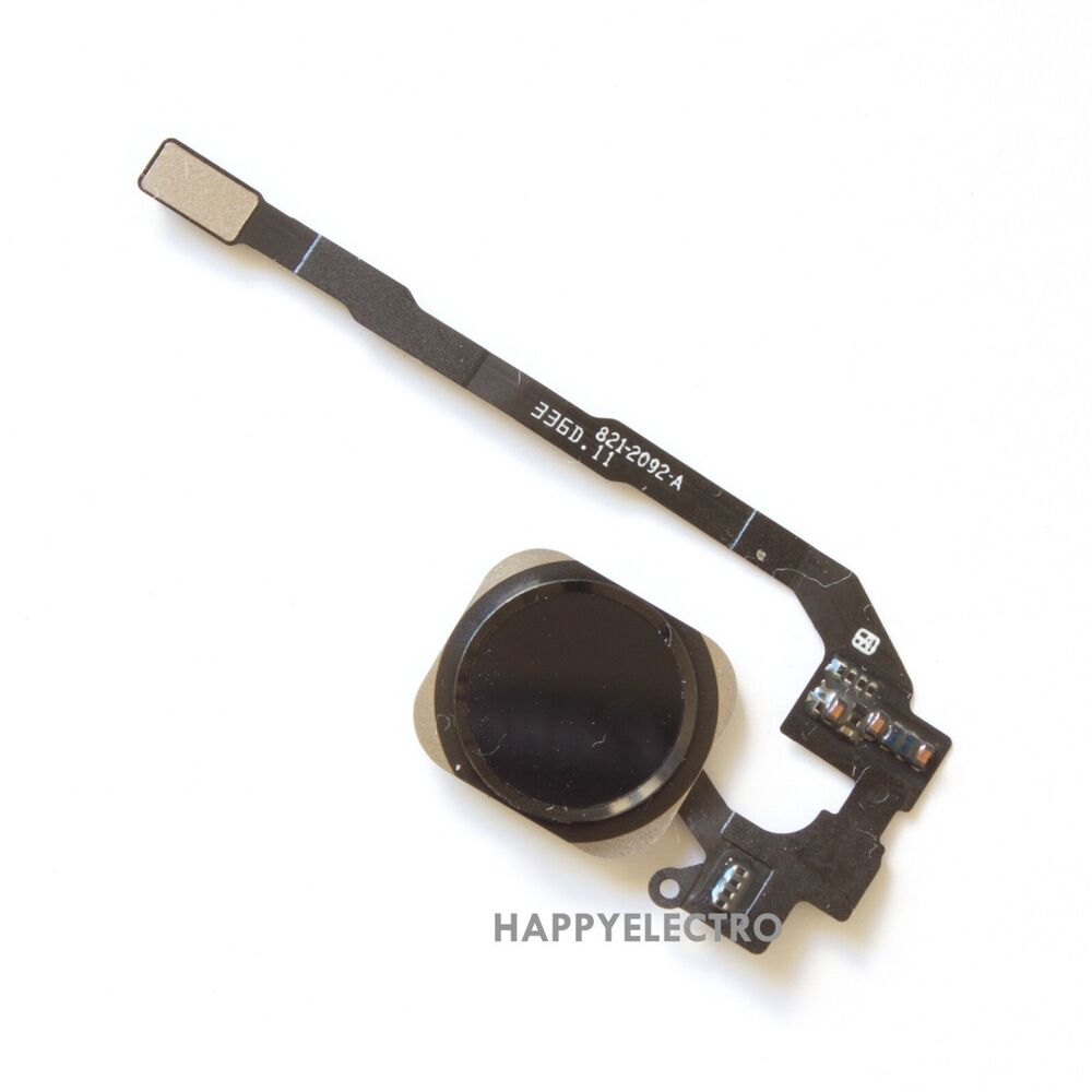 Ribbon Cables Cable Assembly : Black home button touch id sensor key flex cable ribbon