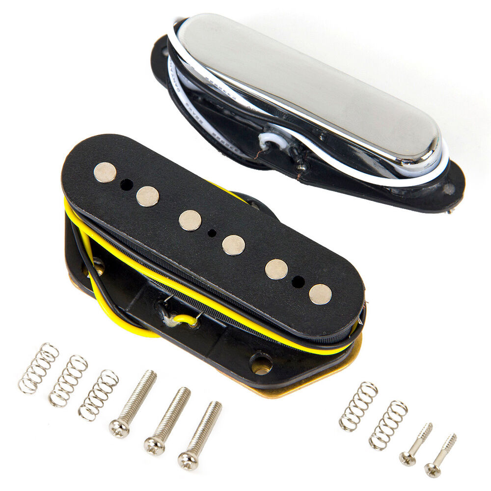electric guitar bridge and neck pickups for fender tele style replacement parts ebay. Black Bedroom Furniture Sets. Home Design Ideas