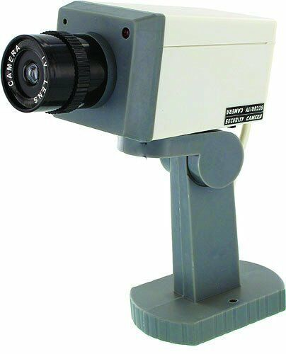 New Fake Security Camera Dummy Surveillance Red Blinking
