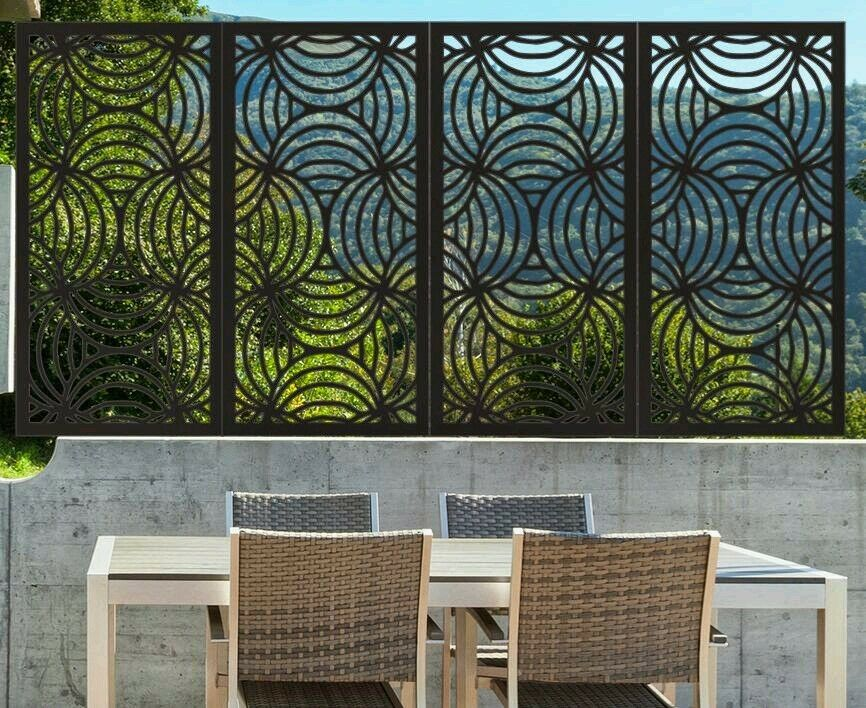 decorative screens laser home garden privacy screens d cor wall art 1200x600 ebay. Black Bedroom Furniture Sets. Home Design Ideas