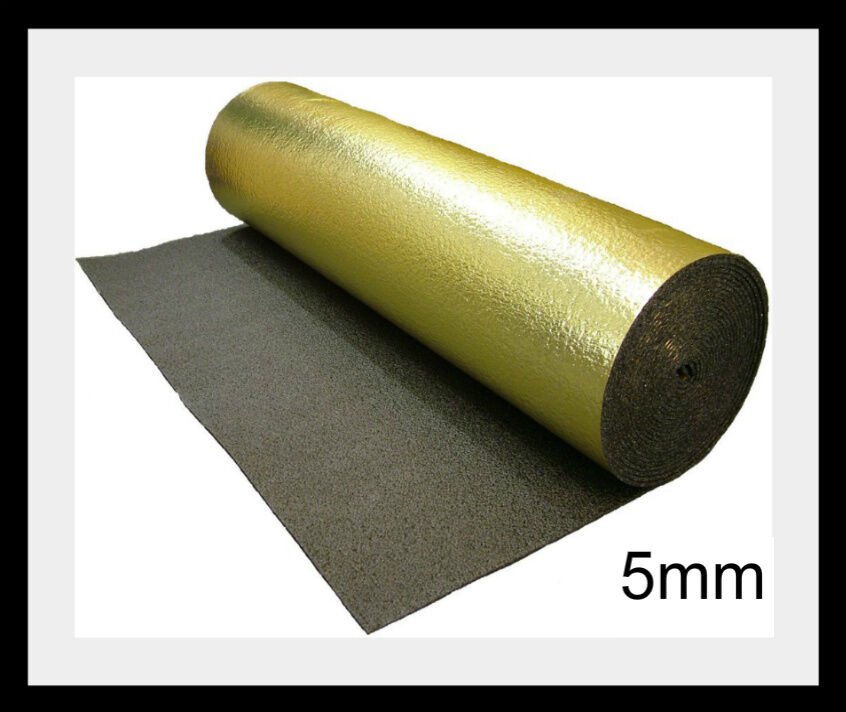 5mm Thick Gold Foil Underlay Laminate Flooring Underlay