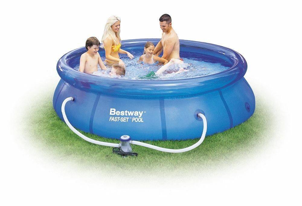 8ft 10ft 12ft family childrens garden outdoor fast set for Small paddling pool