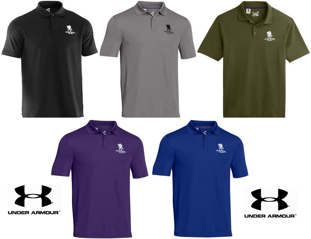 Under armour performance polo shirt wounded warrior for Under armor polo shirts