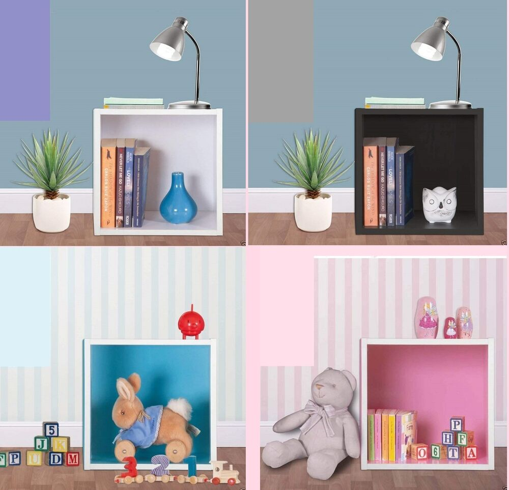 Wood Wooden Wall Cube Shelf Storage Display Unit Cubes