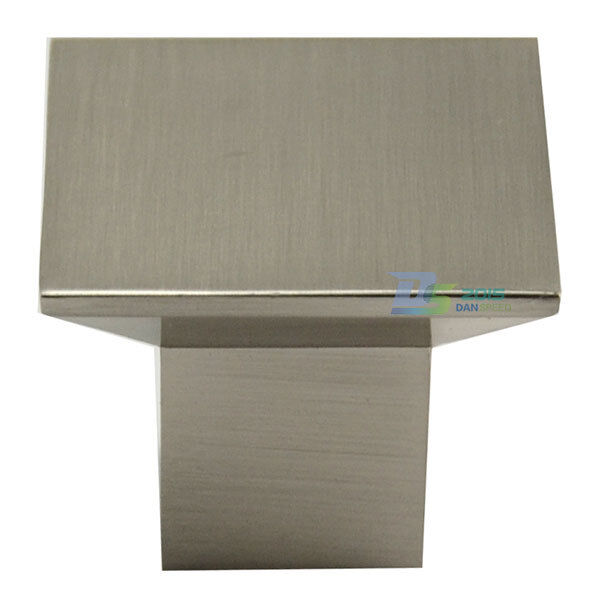 Brushed Stainless Steel Kitchen Cabinet Pulls: Square Stainless Steel Brushed Home Kitchen Cabinet Drawer