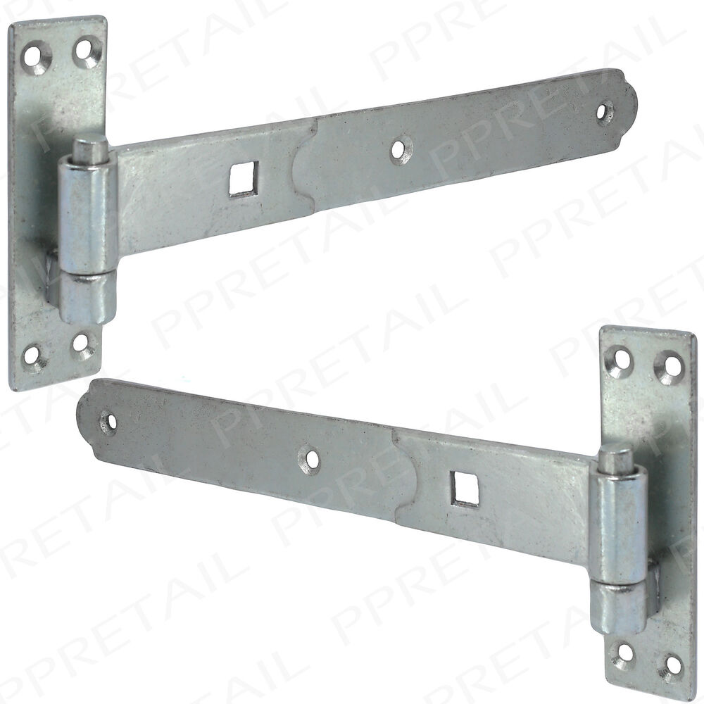 2 X Galvanised Hook Amp Band Hinges 16 Quot 400mm Ultra Heavy