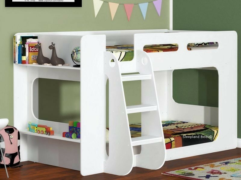 Short Height Bunk Bed Extra Low Bunk With Storage