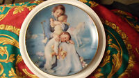 """Kathy Lawrence Young Innocence Plate """"Squeezing In"""" 1991"""