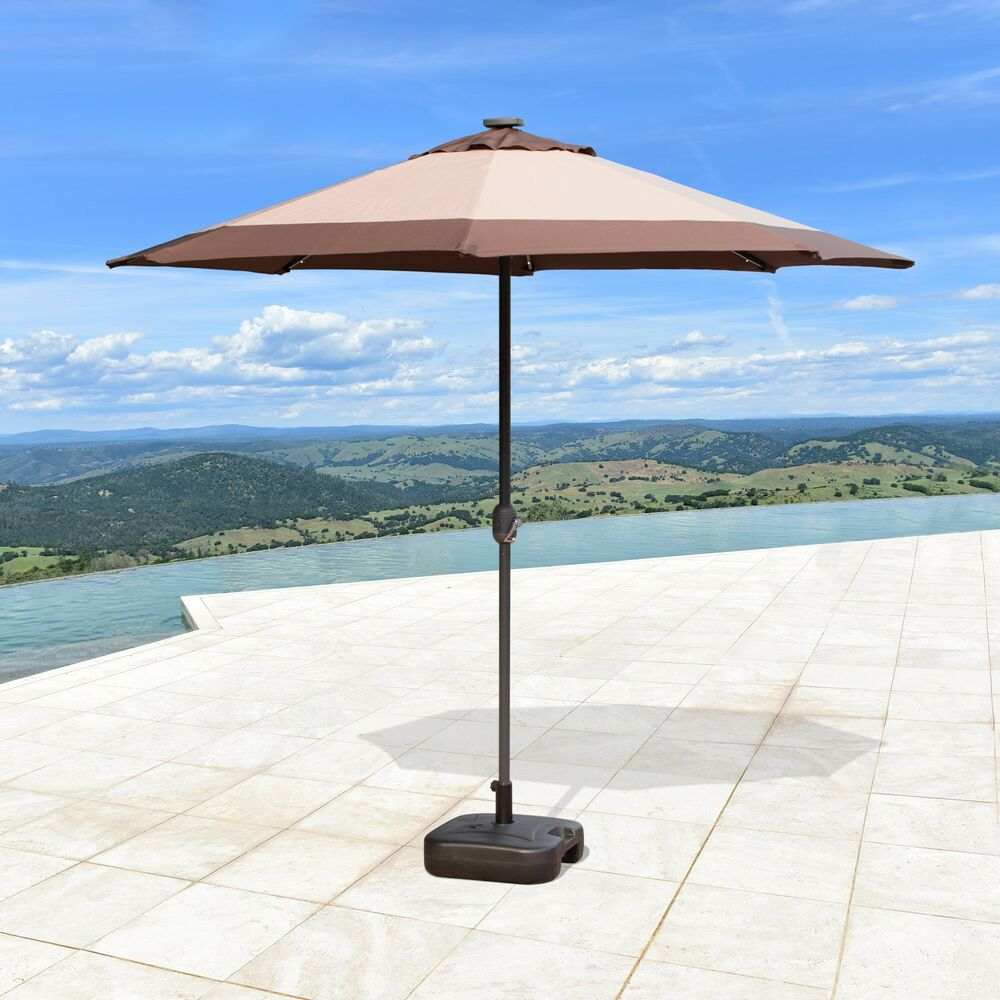 SUPERNOVA 9'FT Solar 24 LED Lights Patio Umbrella Garden