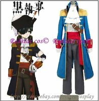 Black Butler 2 Kuroshitsuji Ciel Phantomhive Cosplay Costume - Made in Any size