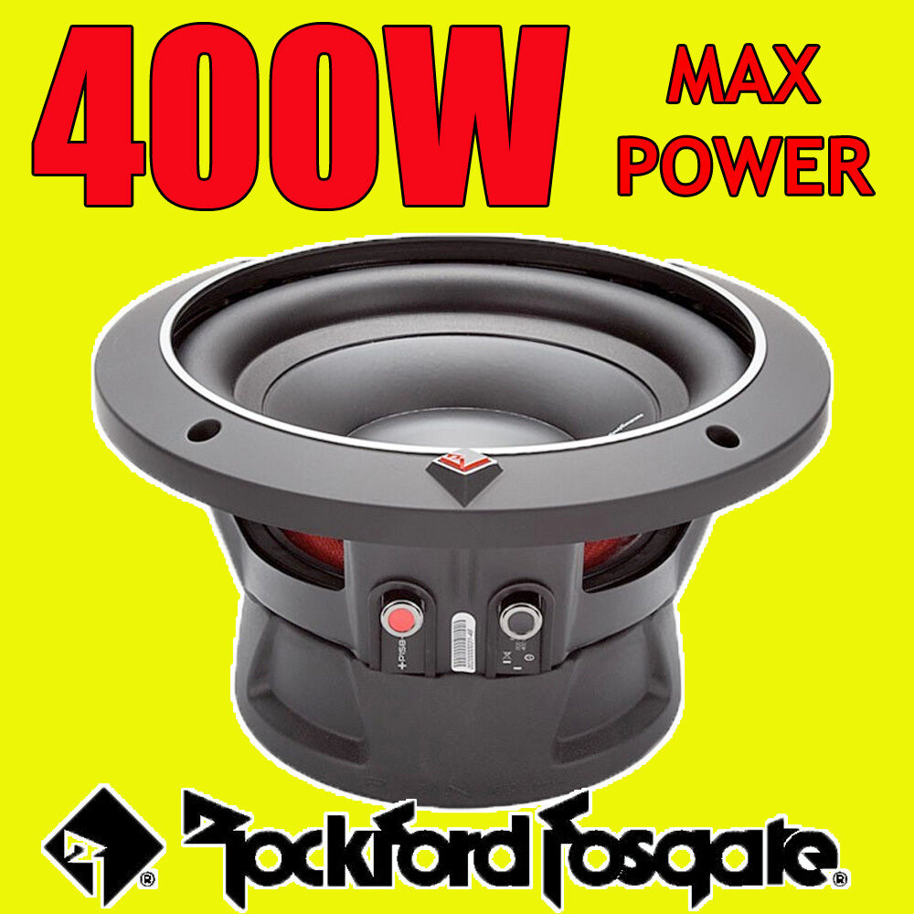 rockford fosgate 8 8 pouces 400 w voiture audio punch bass sub subwoofer 20 cm 4ohm ebay. Black Bedroom Furniture Sets. Home Design Ideas