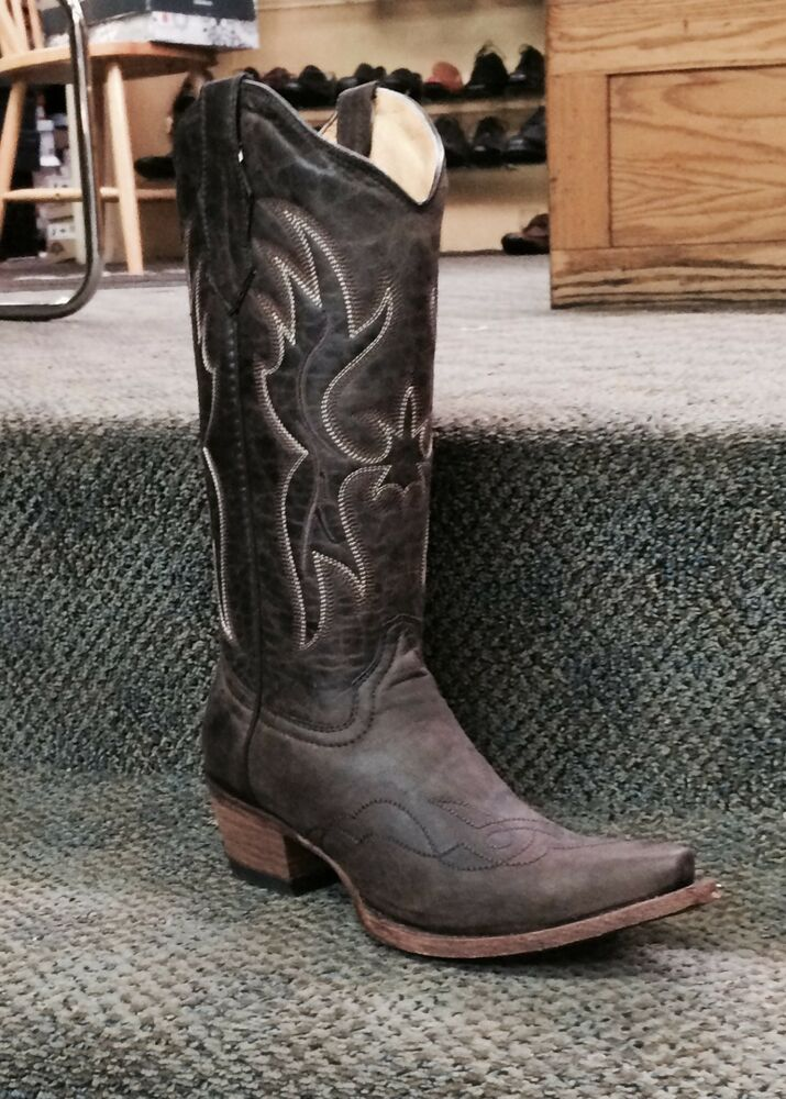 Circle G Women S Diamond Embroidered Cowgirl Boot Square: Womens Circle G Boots Corral Western Embroidered