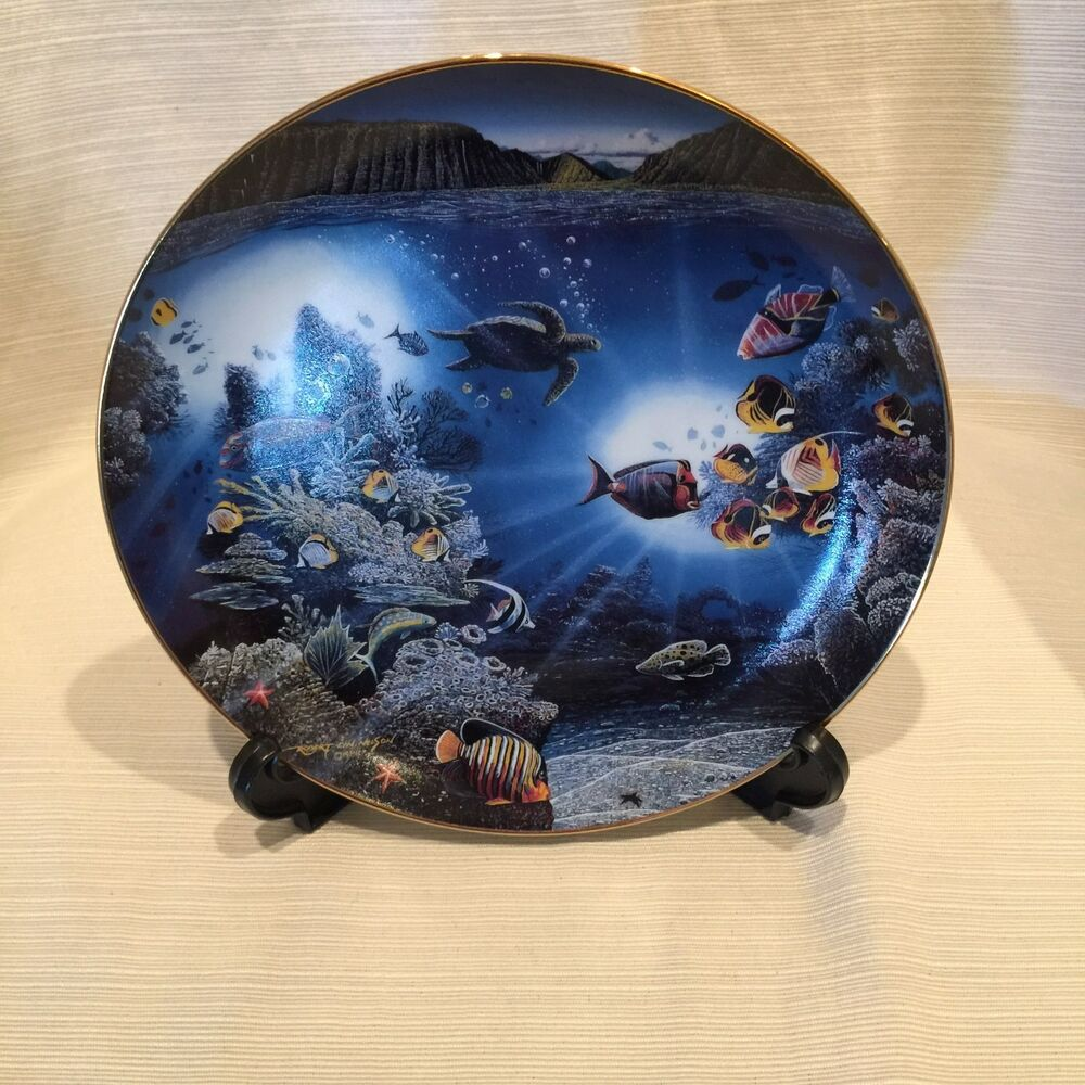 The danbury mint collectors serenity of waipio plate ebay for The danbury