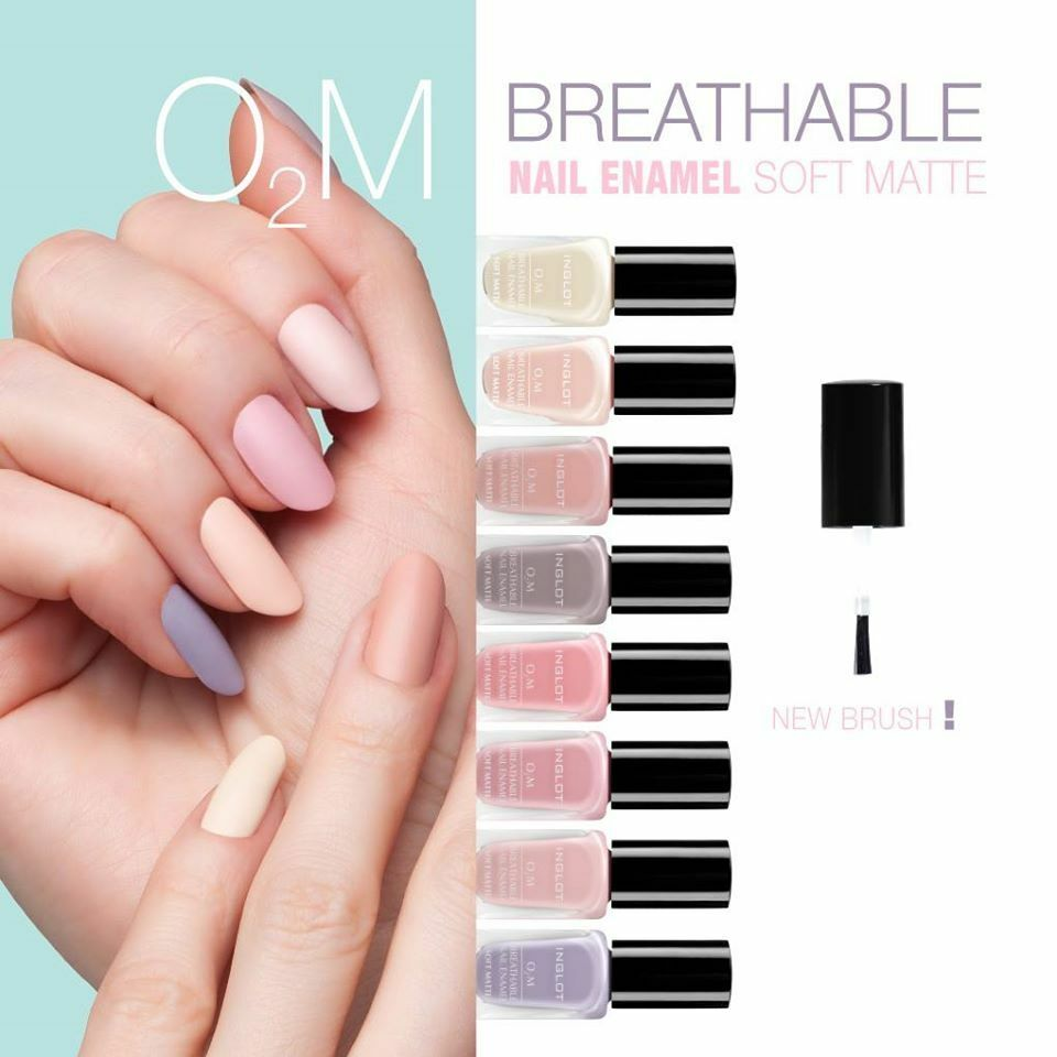 INGLOT O2M MATTE NAIL ENAMEL Breathable Varnish Polish Halal 411-422 ...