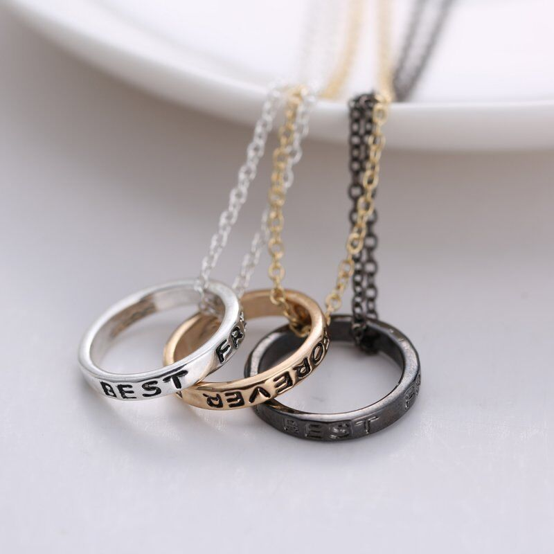 Friendship Pendant Necklace Best friend forever friendship silvergold 3 piece break heart best friend forever friendship silvergold 3 piece break heart pendant necklace ebay audiocablefo