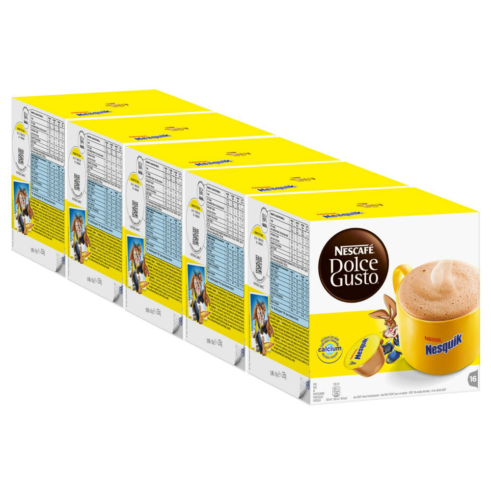 nescaf dolce gusto nesquik 80 capsules x 5 boxes ebay. Black Bedroom Furniture Sets. Home Design Ideas