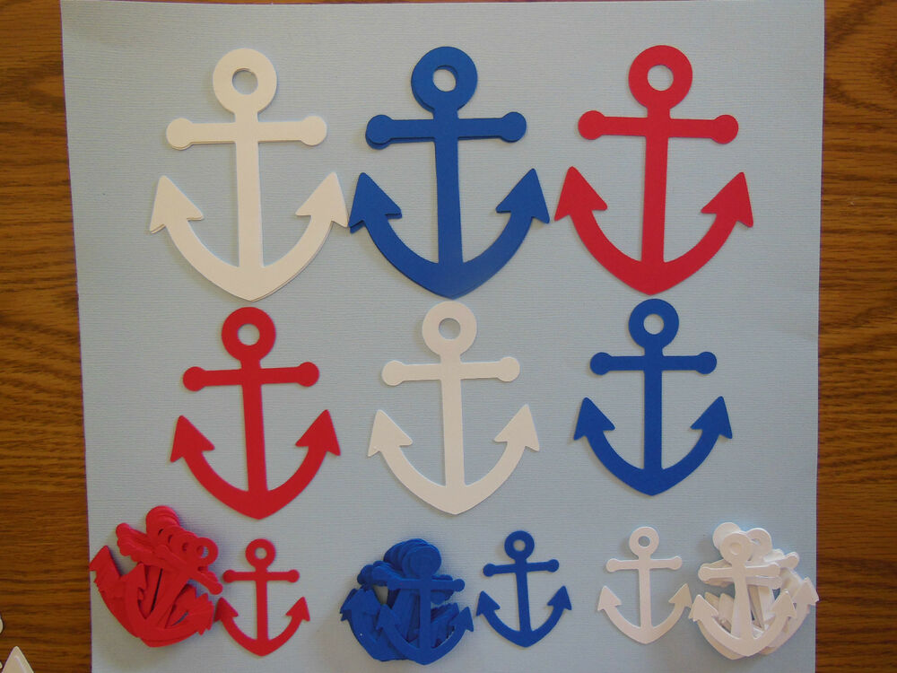 nautical anchor party supplies confetti centerpiece decor birthday shower ebay. Black Bedroom Furniture Sets. Home Design Ideas