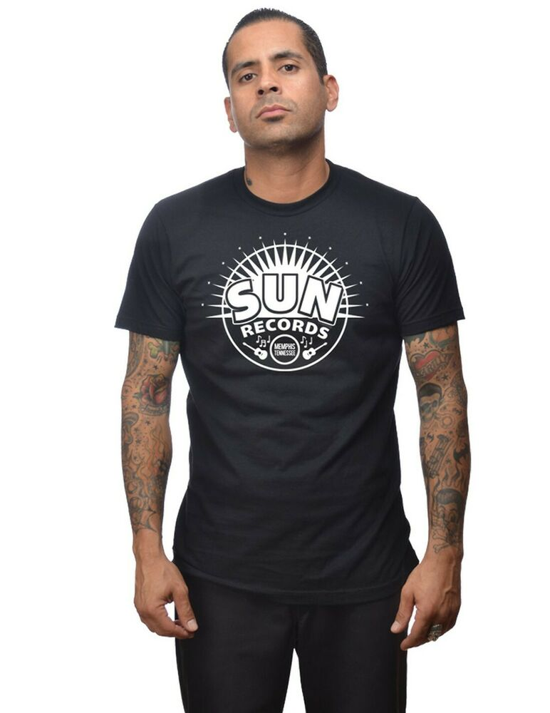 rock steady clothing sun records sunburst m nner 50er rockabilly t shirt ebay. Black Bedroom Furniture Sets. Home Design Ideas