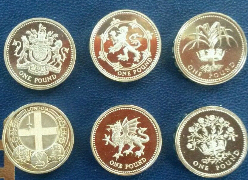 Uk Proof 163 1 One Pound Coins 1983 2015 Choice Of Year Ebay