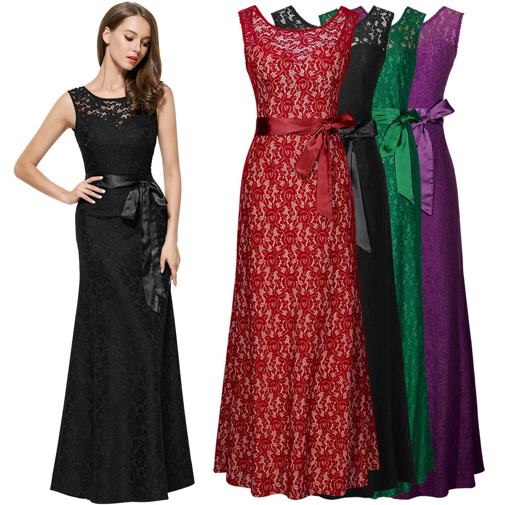 Formal Gowns: Womens Long Sexy Formal Evening Bridesmaid Party Ball