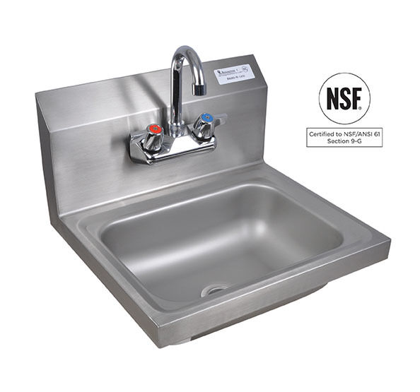 Commercial stainless Hand sink with lead free faucet NEW eBay