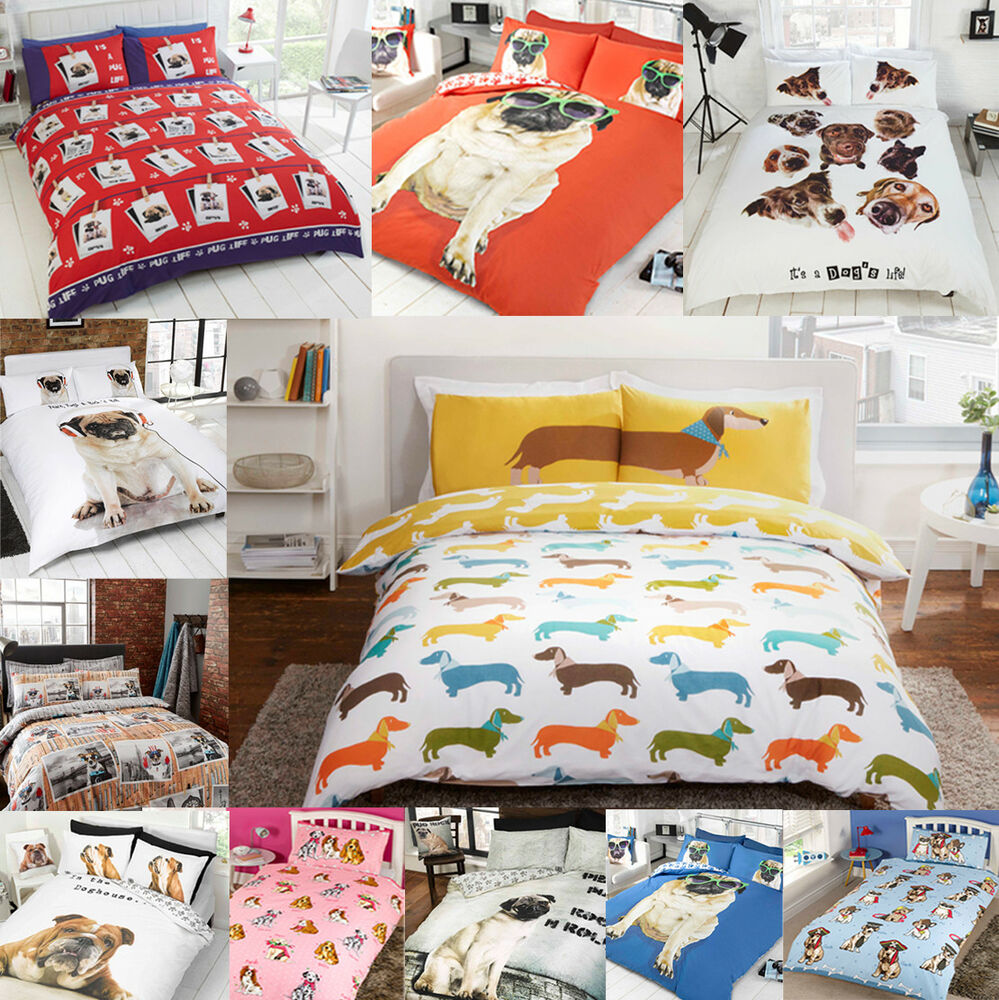Pug Puppy Dog Cute Pooch Bulldog Duvet Quilt Cover