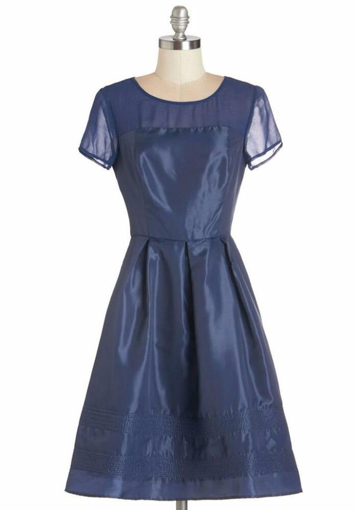 Geode navy blue vintage style formal bridesmaid prom dress for Navy plus size dress for wedding