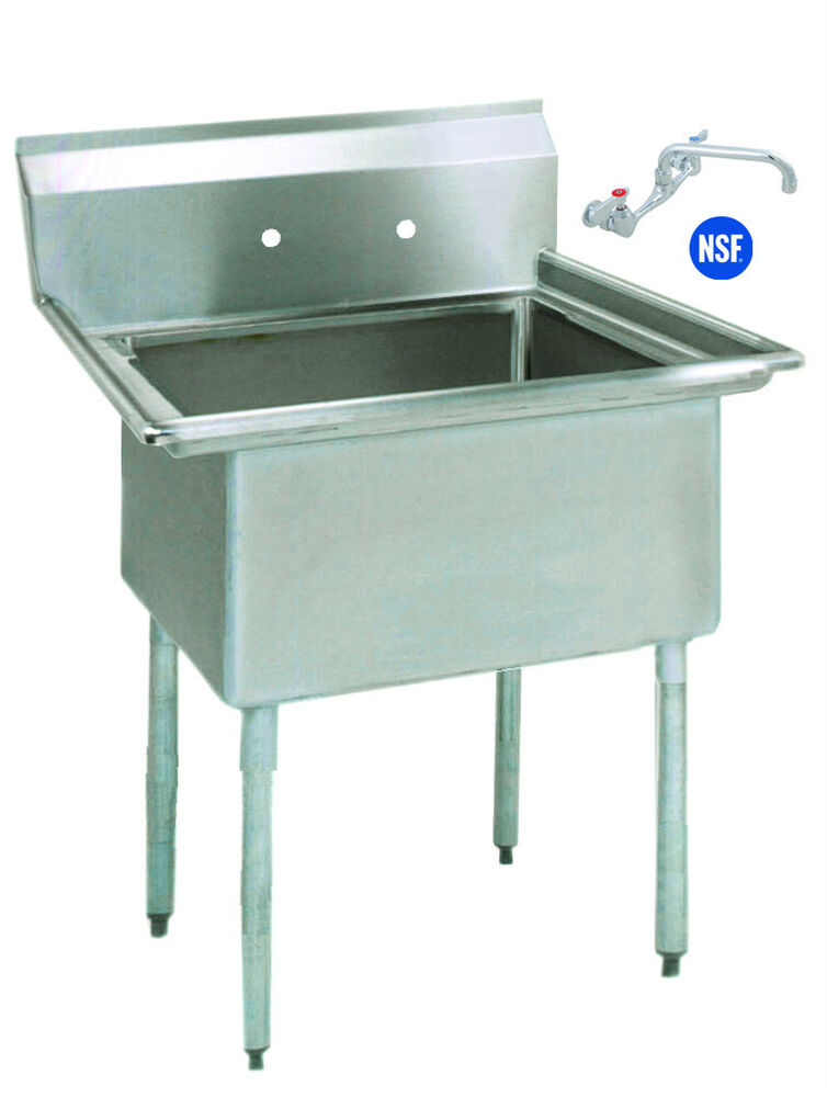 Stainless Steel Mop Sink Commercial : Stainless Steel (1) One Compartment Utility Prep Mop Sink 23 x 24 with ...