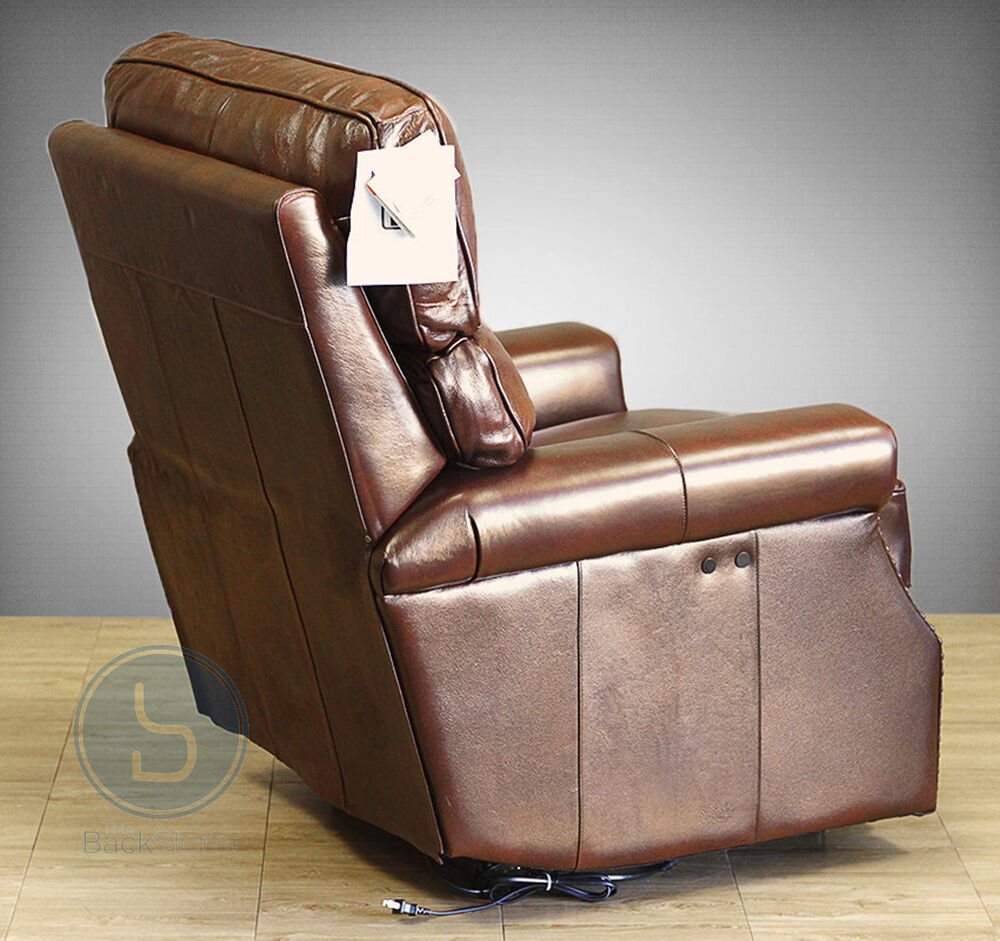 Barcalounger Pushback Top Grain Leather Recliner Wall