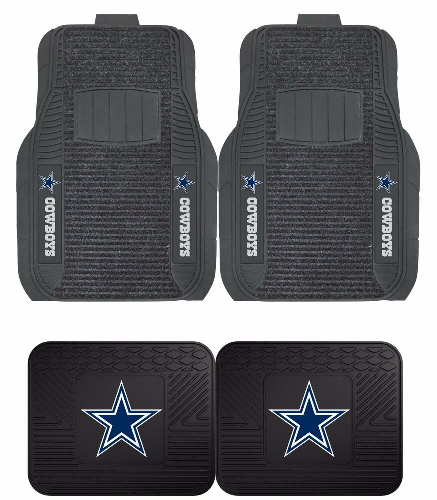 Dallas Cowboys Deluxe Floor Mats 2 Amp 4 Pc Sets For Cars