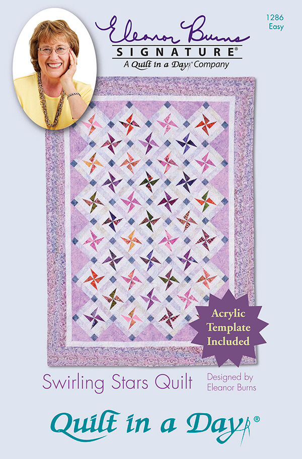 Quilt Patterns To Make In A Day : Pattern & Acrylic Template ~ SWIRLING STARS ~ Eleanor Burns - Quilt in a Day eBay