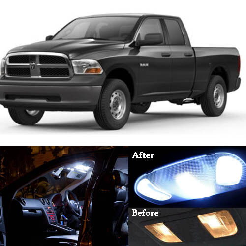 14x Led White Lights Interior Package Kit For 2002 2011 Dodge Ram 1500 2500 3500 Ebay