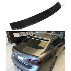 FITS FOR 2014-2021 INFINITI Q50 S VIP CARBON FIBER REAR WINDOW ROOF SPOILER WING