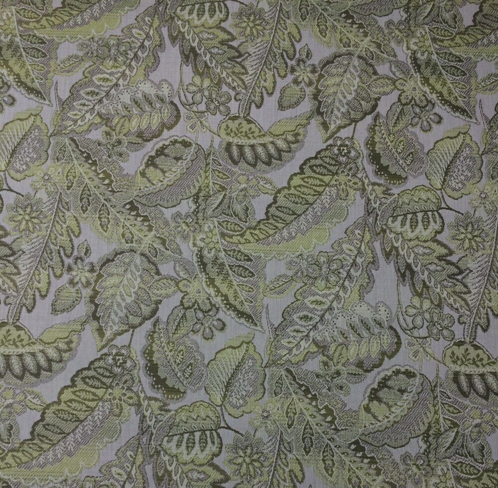 Sunbrella tropical leaf elm green jacquard outdoor Sunbrella fabric by the yard