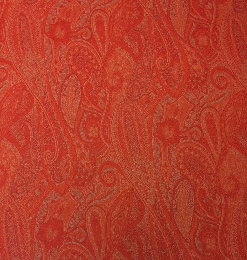 outdura sasha tangerine orange floral paisley outdoor
