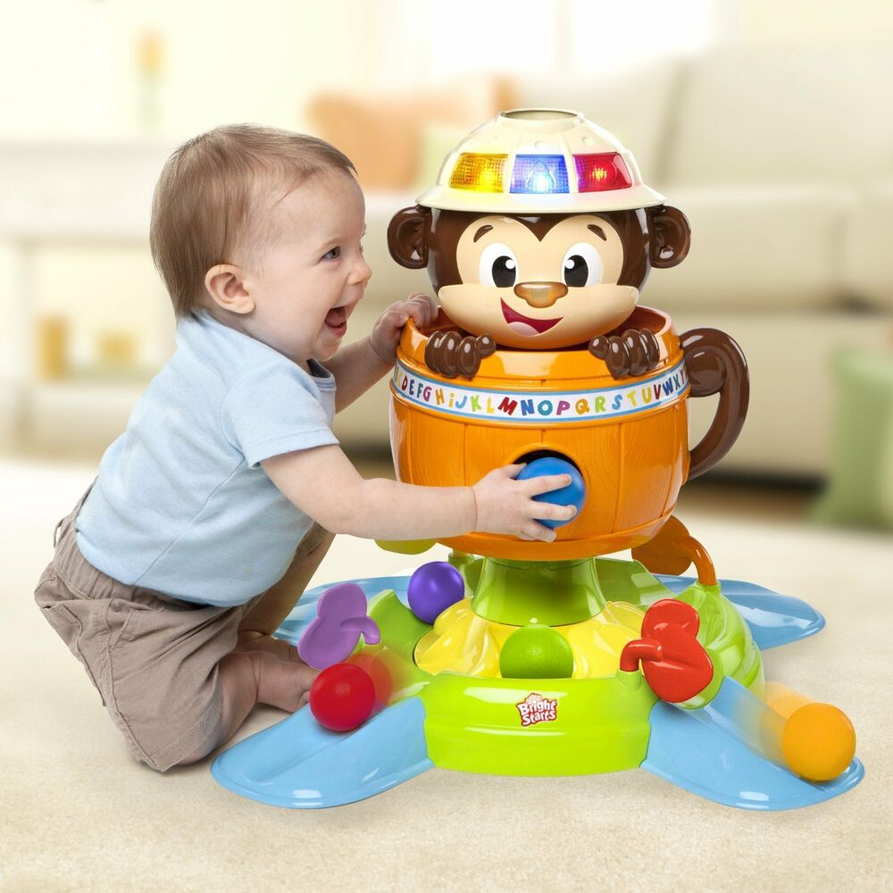 18 Month Old Toys For A Ball : Silly monkey ball stand center spin song shoot toys baby