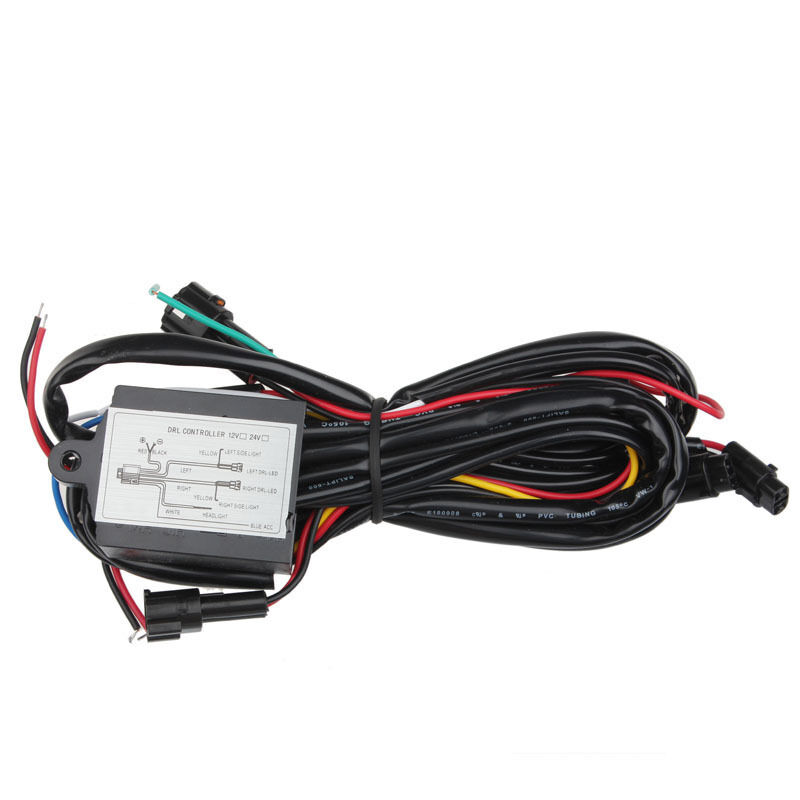 car auto led daytime running light relay drl controller on off switch elegant ebay. Black Bedroom Furniture Sets. Home Design Ideas