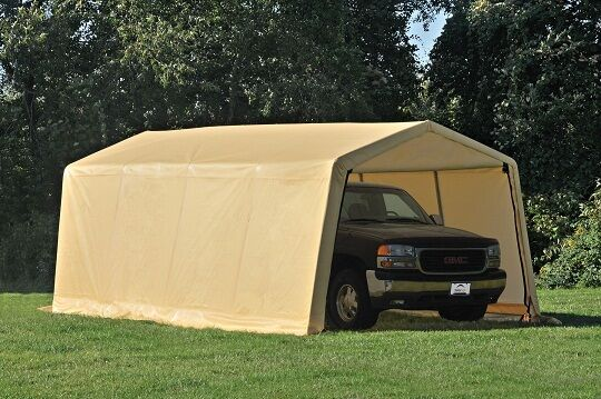 Metal Car Shelter 10x20 : Shelterlogic tent auto storage shed shelter portable