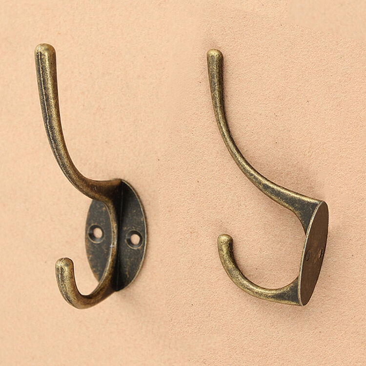 Bathroom Wall Hooks Towels: Vintage Antique Iron Home Bathroom Hat Coat Clothes Towel