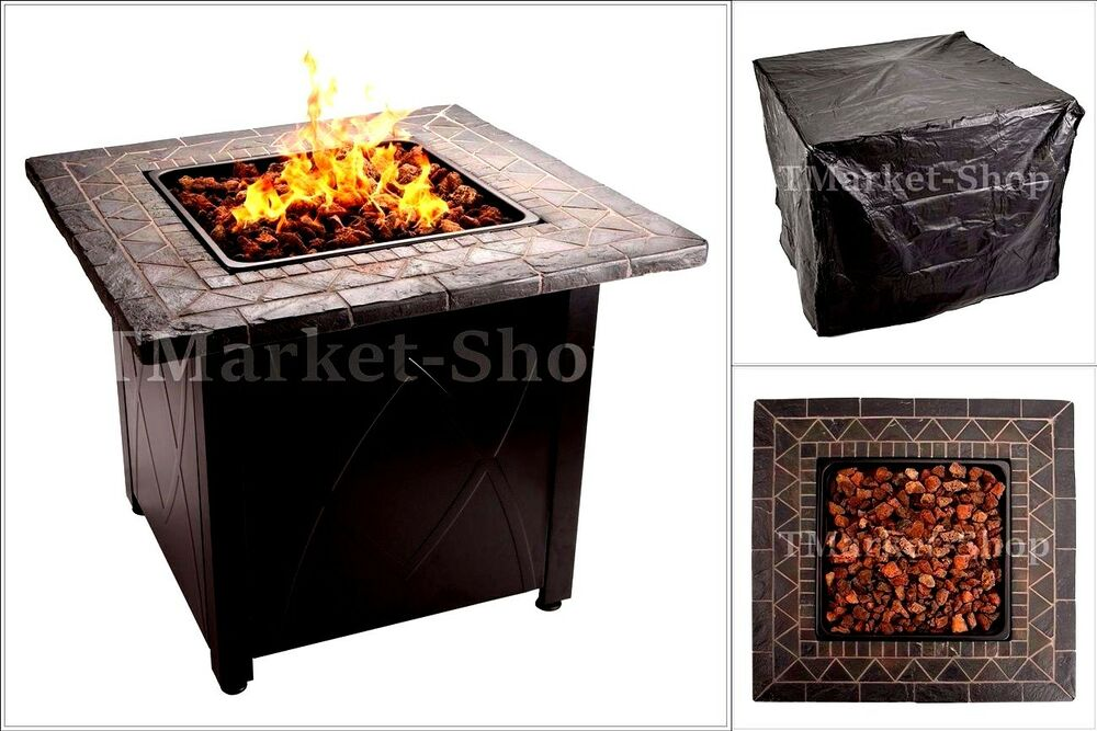 30 000 btu blue rhino outdoor propane gas fire pit lava for Buy outdoor fire pit