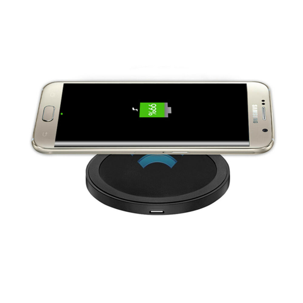 qi wireless charging charger pad for samsung galaxy s5 s6 edge moto360 iphone lg ebay. Black Bedroom Furniture Sets. Home Design Ideas