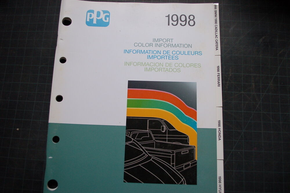 1998 DuPont Import Foreign Car Truck Color Paint Chip book ...