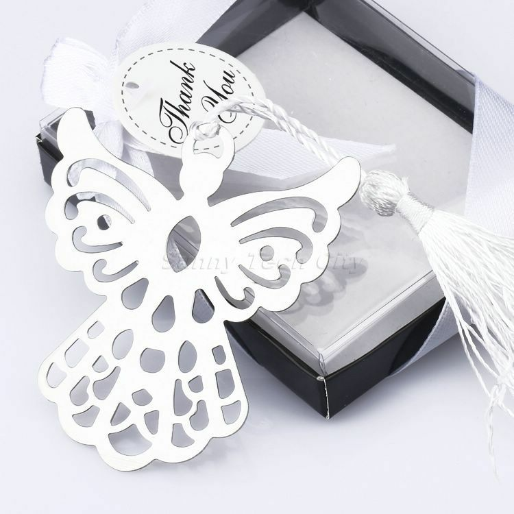 10pcs Boxed Gift Guardian Angel Bookmark W Tassels For Wedding