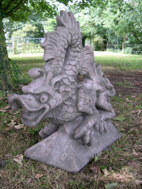 Granite Lawn Ornaments : Large stone dragon finial mythical ornament statue ebay