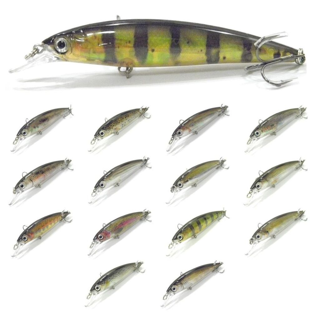 4 1 3 inch 1 2 oz minnow fishing lures real skin painting for Fishing lure paint