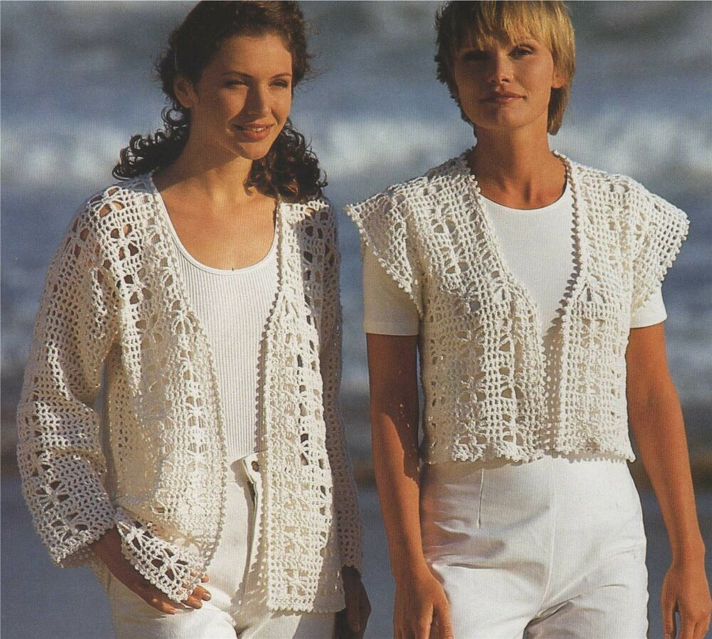 Womens Cardigan & Waistcoat Crochet Pattern : Womens 30-32 ...